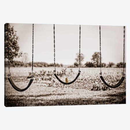 Three Swings Canvas Print #ESC30} by Eric Schech Canvas Art
