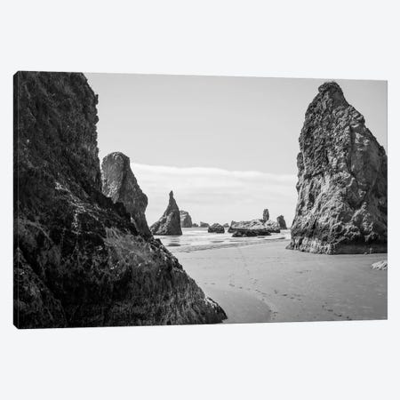 Mono Rocks Canvas Print #ESC6} by Eric Schech Canvas Artwork