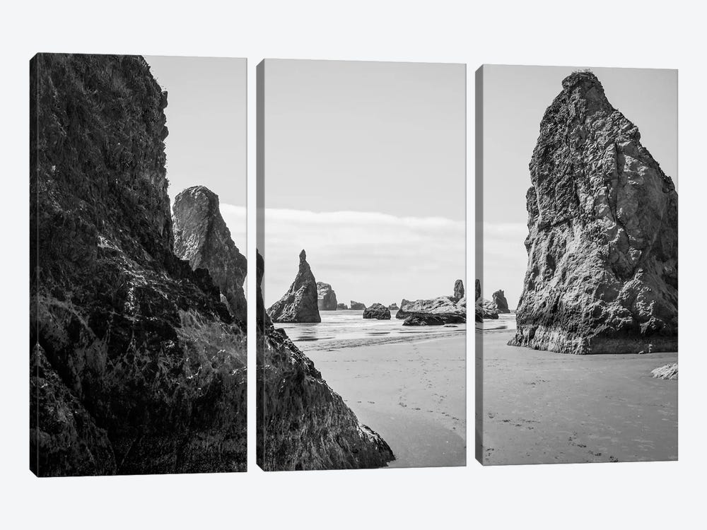 Mono Rocks by Eric Schech 3-piece Canvas Art Print