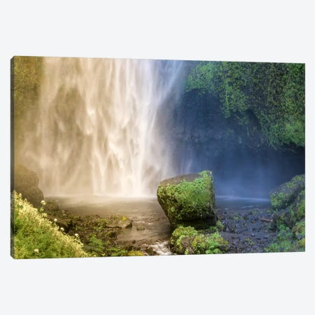 Into the Waterfall Canvas Print #ESC72} by Eric Schech Canvas Artwork