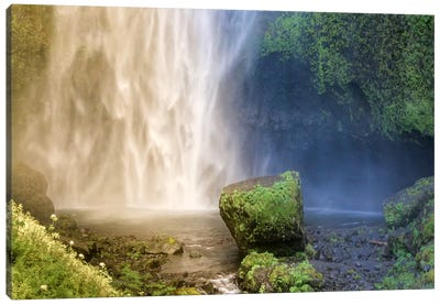 Into the Waterfall Canvas Art Print