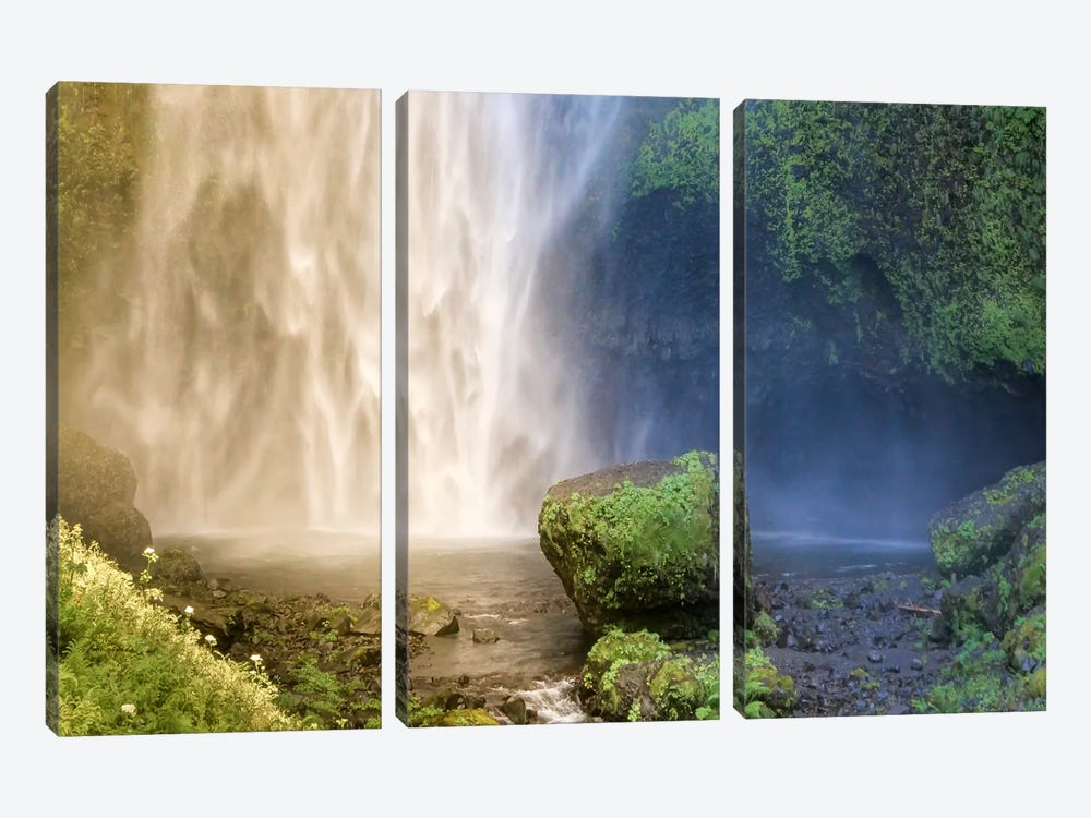 Into the Waterfall by Eric Schech 3-piece Art Print