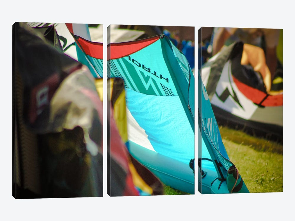 Colorful Tents by Eric Schech 3-piece Canvas Artwork