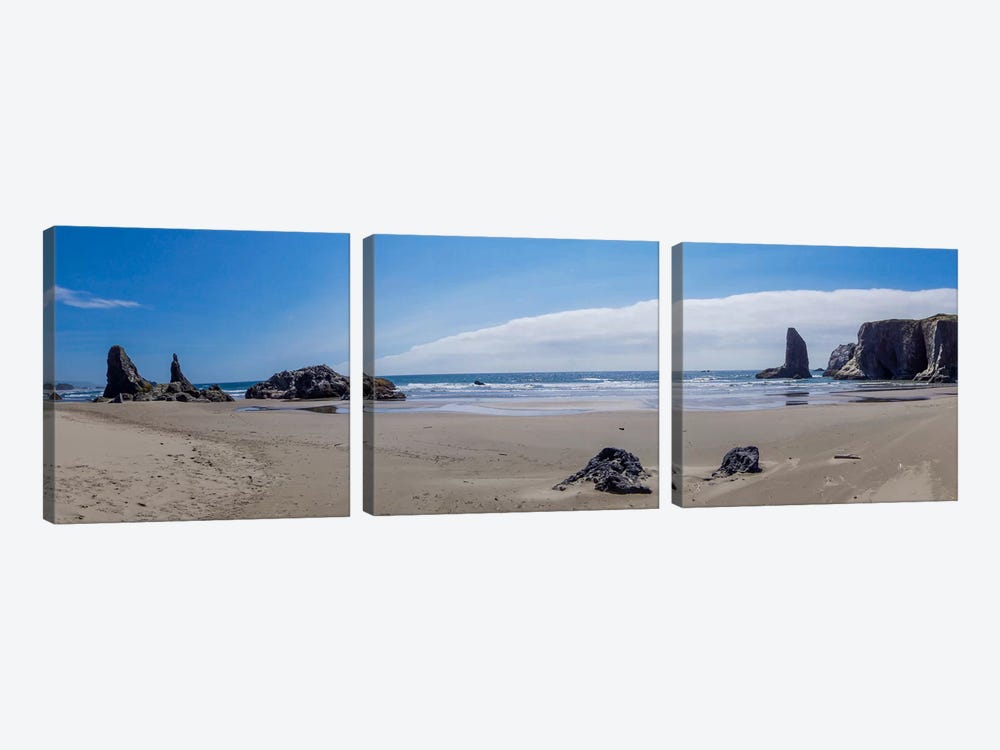 Rock Bay Panoramic by Eric Schech 3-piece Canvas Art