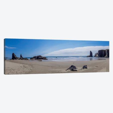 Rock Bay Panoramic Canvas Print #ESC7} by Eric Schech Canvas Artwork