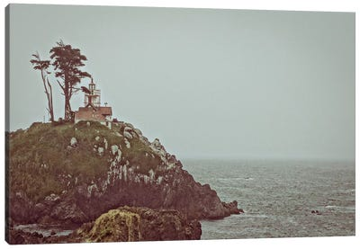 House on a Cliff Canvas Art Print