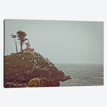 House on a Cliff Canvas Print #ESC87} by Eric Schech Canvas Artwork