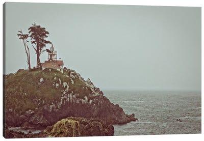 House on a Cliff Canvas Art Print