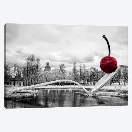 Cherry Spoon Canvas Print #ESC90} by Eric Schech Canvas Artwork