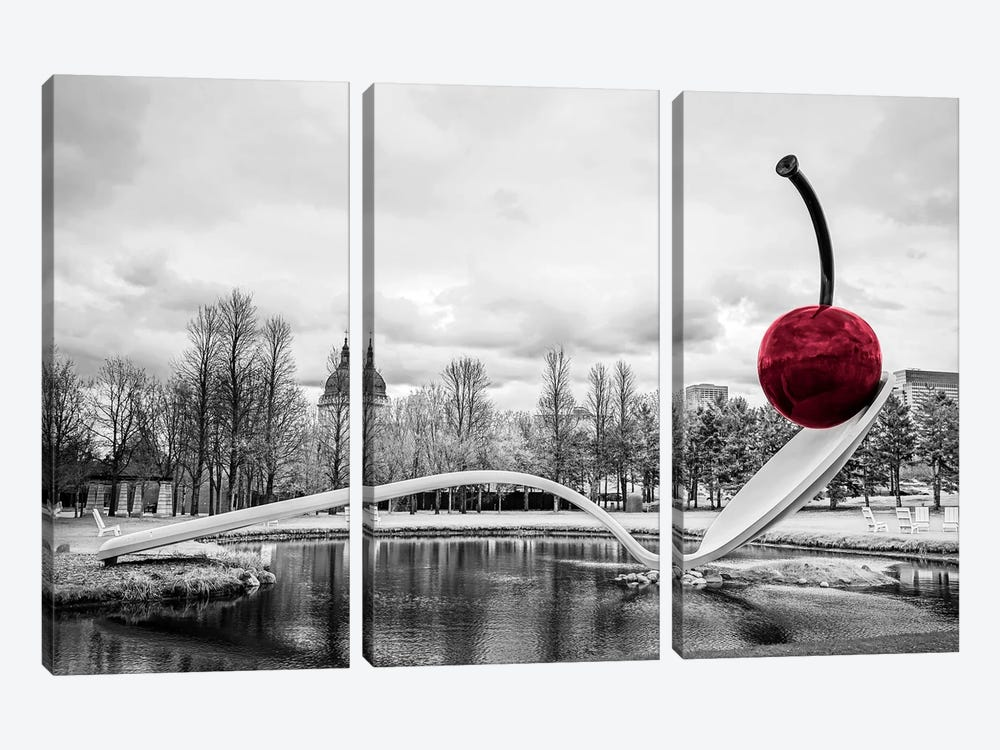 Cherry Spoon by Eric Schech 3-piece Canvas Print