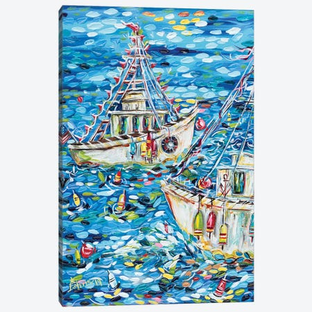 Fisherman's Life Canvas Print #ESG13} by Estelle Grengs Canvas Art