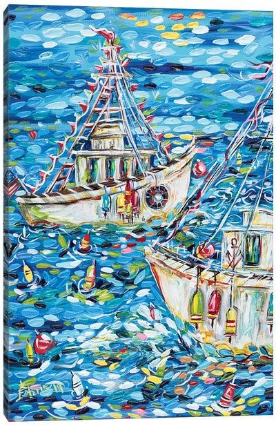 Fisherman's Life Canvas Art Print