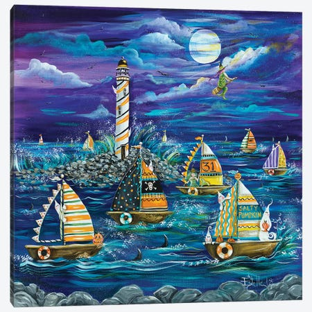 Halloween Canvas Print #ESG14} by Estelle Grengs Art Print