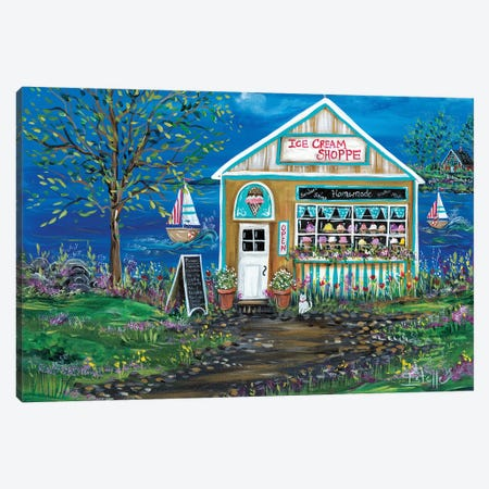 Ice Cream Shop Canvas Print #ESG15} by Estelle Grengs Art Print
