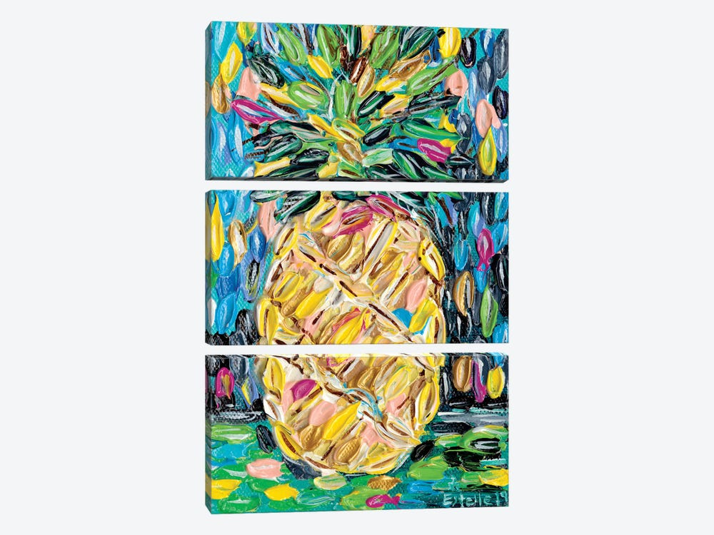 Pineapple Chunk by Estelle Grengs 3-piece Canvas Art Print