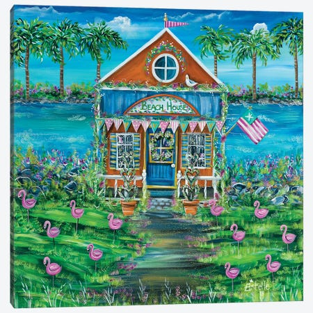 Beach House Canvas Print #ESG1} by Estelle Grengs Art Print