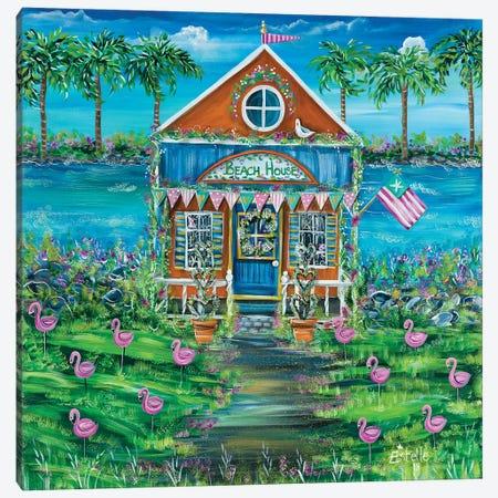 Beach House Canvas Print #ESG1} by Estelle Grengs Art Print
