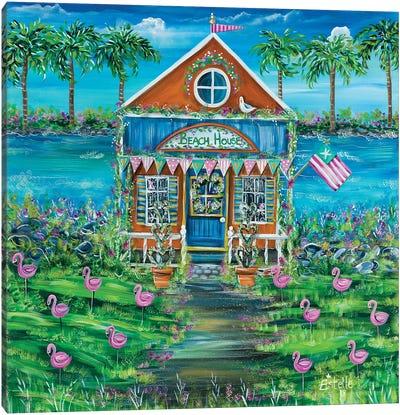 Beach House Canvas Art Print