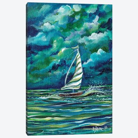 Sailboat Canvas Print #ESG21} by Estelle Grengs Art Print