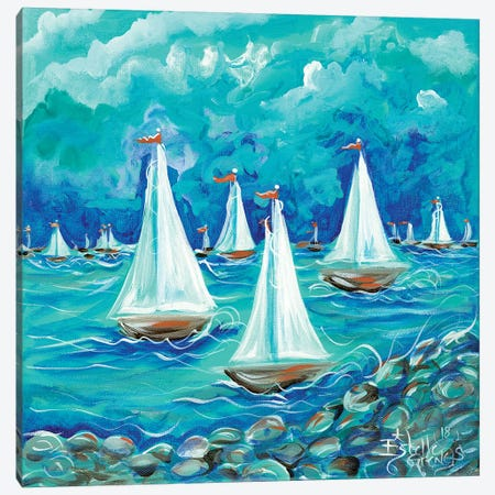 Sailing Canvas Print #ESG22} by Estelle Grengs Art Print