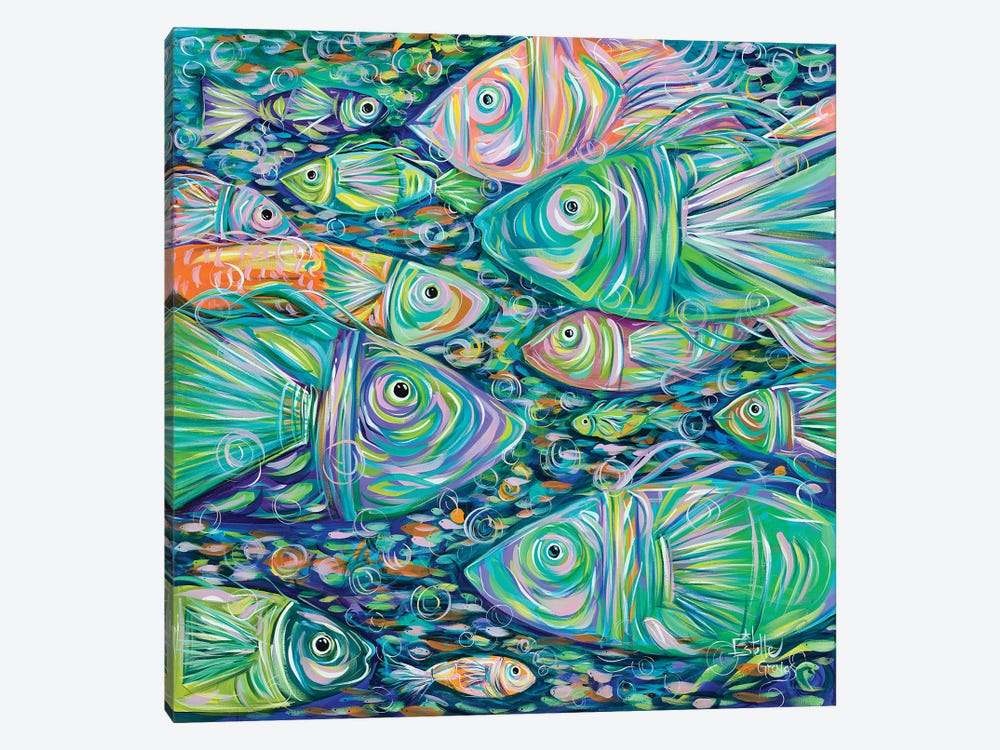 School of Fish 1-piece Canvas Art