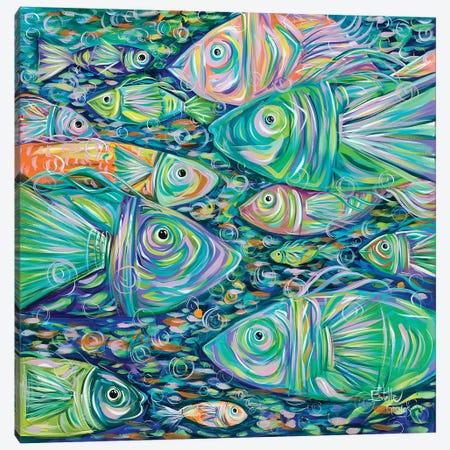 School of Fish Canvas Print #ESG23} by Estelle Grengs Canvas Print