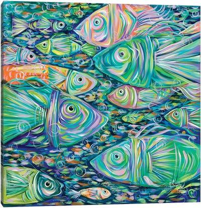 School of Fish Canvas Art Print
