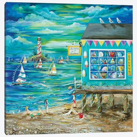 Seashell By The Seashore Canvas Print #ESG25} by Estelle Grengs Canvas Artwork