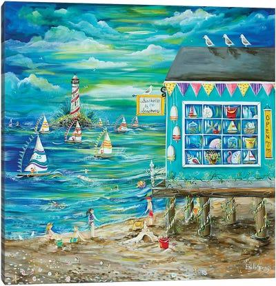 Seashell By The Seashore Canvas Art Print