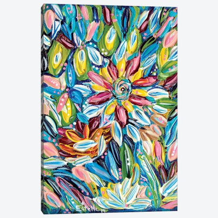Flower Burst Canvas Print #ESG30} by Estelle Grengs Canvas Art
