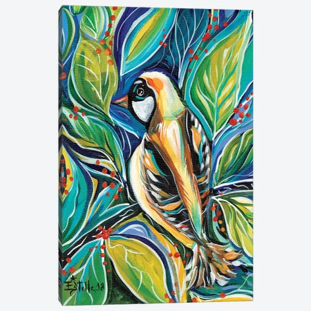 Tribal Bird Canvas Print #ESG36} by Estelle Grengs Canvas Art Print