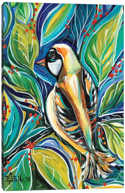 Tribal Bird Canvas Art Print