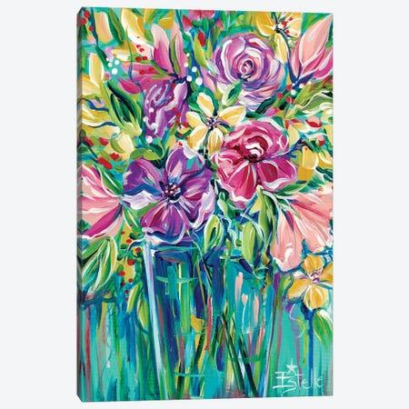 Fresh Flowers Canvas Print #ESG38} by Estelle Grengs Canvas Wall Art