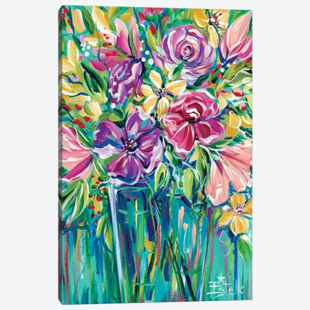 Fresh Flowers Canvas Print #ESG38} by Estelle Grengs Canvas Wall Art