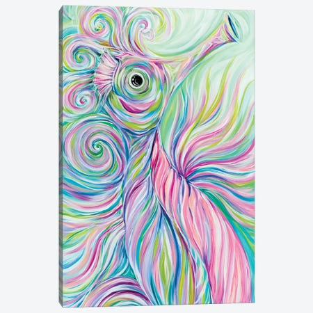 Swirly Seahorse Canvas Print #ESG39} by Estelle Grengs Canvas Art