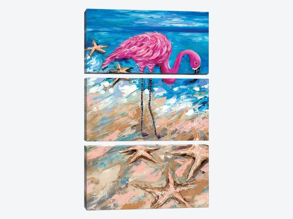 Flamingo of Bonaire by Estelle Grengs 3-piece Art Print