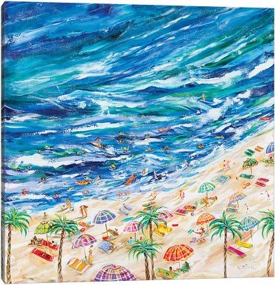 A Day At The Beach Canvas Art Print