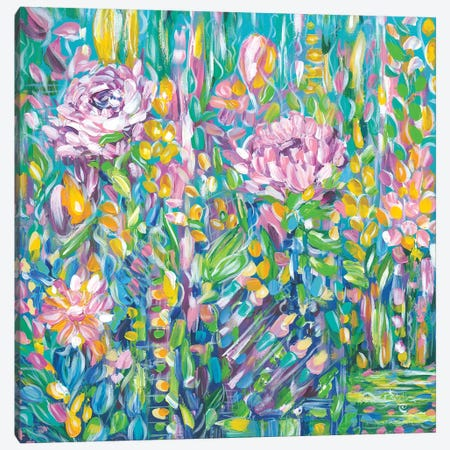 Field Of Flowers Canvas Print #ESG42} by Estelle Grengs Canvas Print