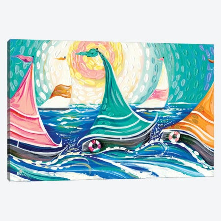 Sailing II Canvas Print #ESG44} by Estelle Grengs Canvas Wall Art