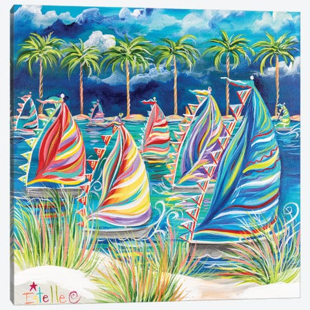 Come Sail Away Canvas Print #ESG47} by Estelle Grengs Canvas Artwork