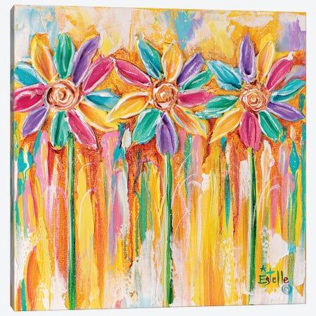 Pinwheel Flowers Canvas Print #ESG48} by Estelle Grengs Canvas Print