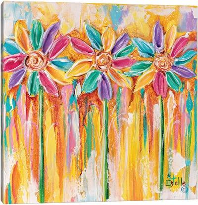 Pinwheel Flowers Canvas Art Print