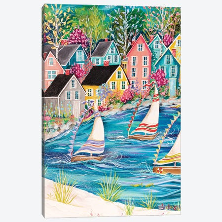 Coastal Life Canvas Print #ESG53} by Estelle Grengs Canvas Artwork