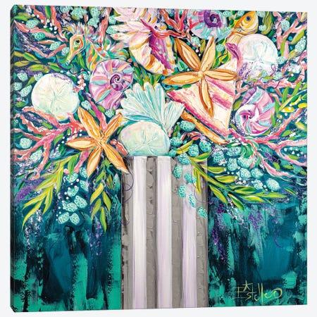 Coastal Bouquet Canvas Print #ESG58} by Estelle Grengs Canvas Artwork