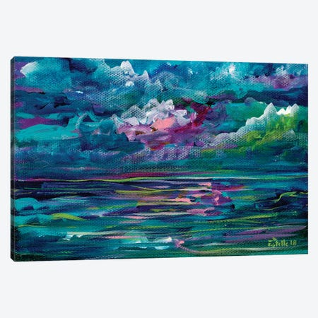 Blue Seas Canvas Print #ESG5} by Estelle Grengs Canvas Art