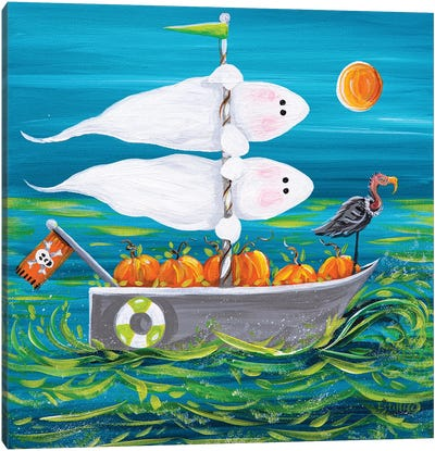 Spooky Sails Canvas Art Print