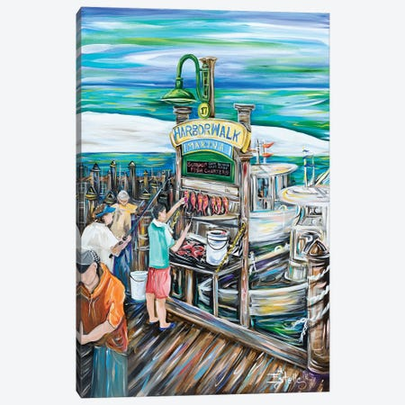 Catch of the Day Canvas Print #ESG6} by Estelle Grengs Canvas Art