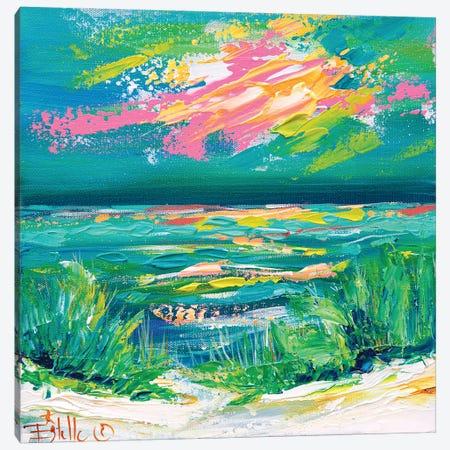 Colorful Coast Canvas Print #ESG70} by Estelle Grengs Canvas Artwork
