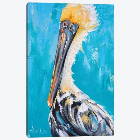 Posh Pelican Canvas Print #ESG71} by Estelle Grengs Canvas Wall Art