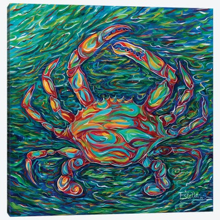 Crab Canvas Print #ESG8} by Estelle Grengs Canvas Art Print